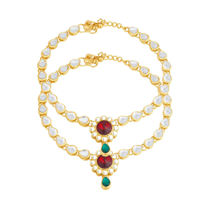 Trushi By Sukkhi Ritzy Gold Plated Anklet for women