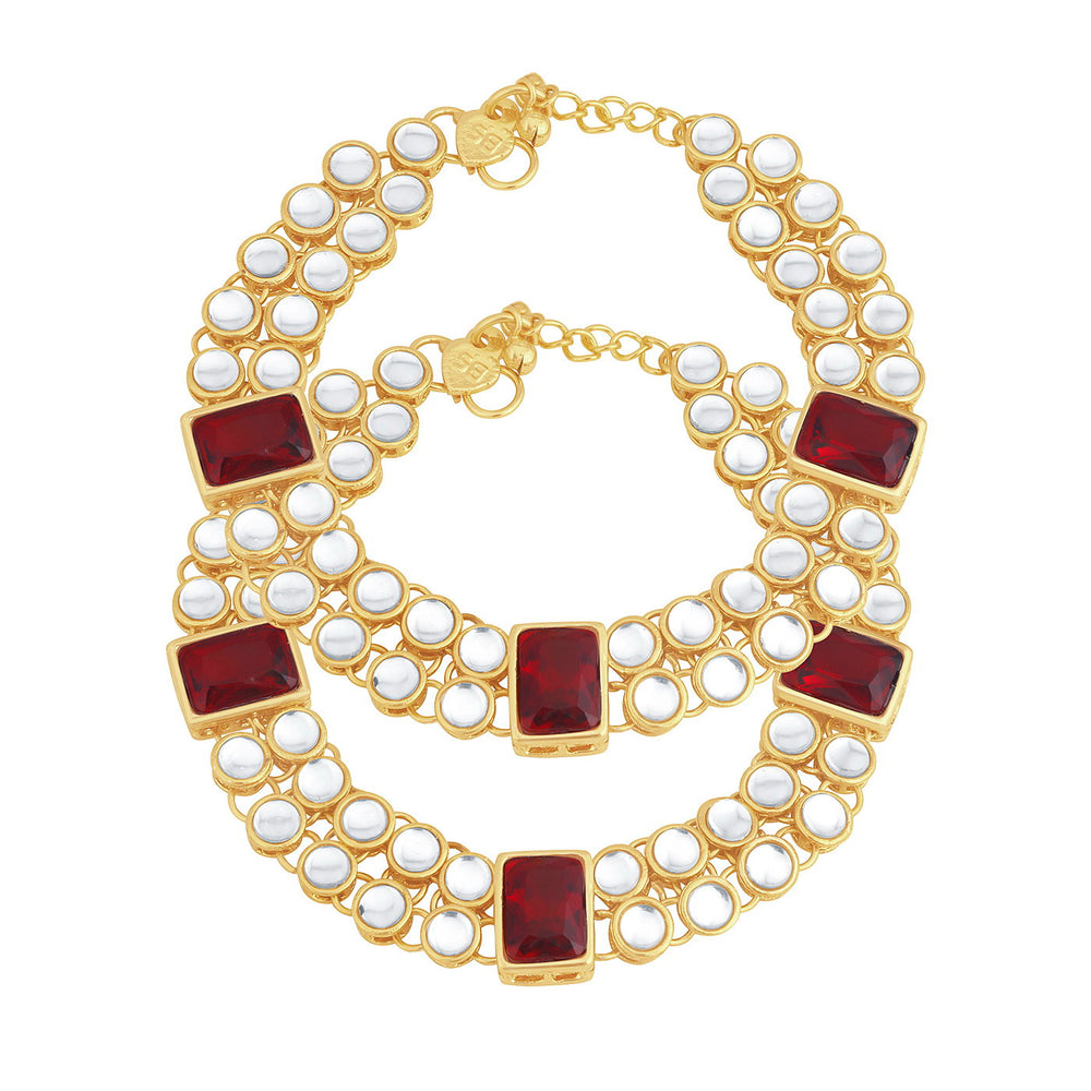 Trushi Moddish Gold Plated Anklet for women