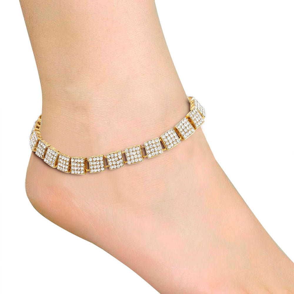 Trushi By Sukkhi Traditional Gold Plated Anklet for women