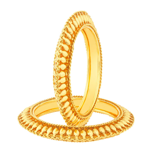 Sukkhi Eye-Catchy Gold Plated Bangles For Women Set Of 2