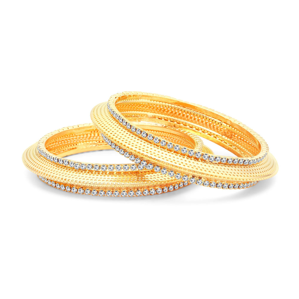 Sukkhi Ritzy Gold Plated AD Bangles For Women Pack Of 2