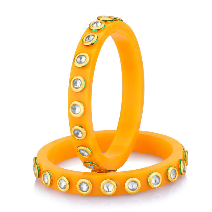 Sukkhi Stylish Orange colour plastic bangle for women