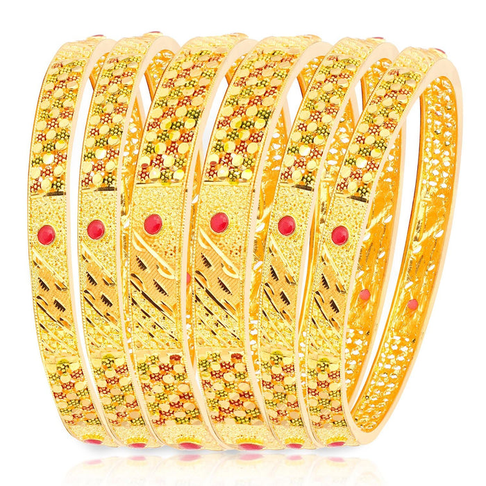 Sukkhi Incredible Gold Plated Bangle Set for Women