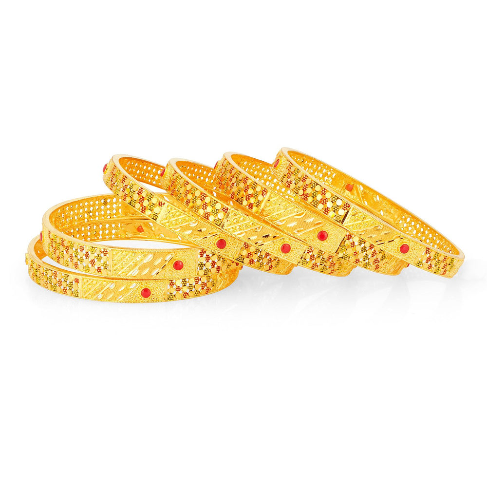 Sukkhi Incredible 24 Carat 1 Gram Gold Jewellery Bangle Set for Women - 2.4