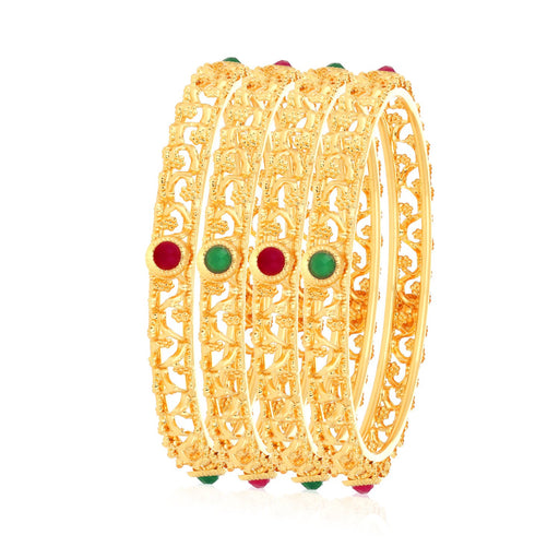 Sukkhi Glamorous Gold Plated Bangle Set for Women