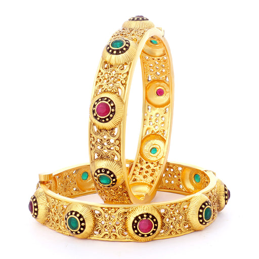 Sukkhi Classic Gold Plated Bangles For Women (Set of 2)