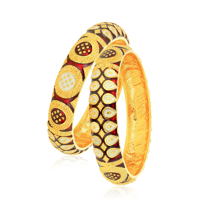 Sukkhi Alluring Gold Plated Bangle Set for Women (Set of 2)
