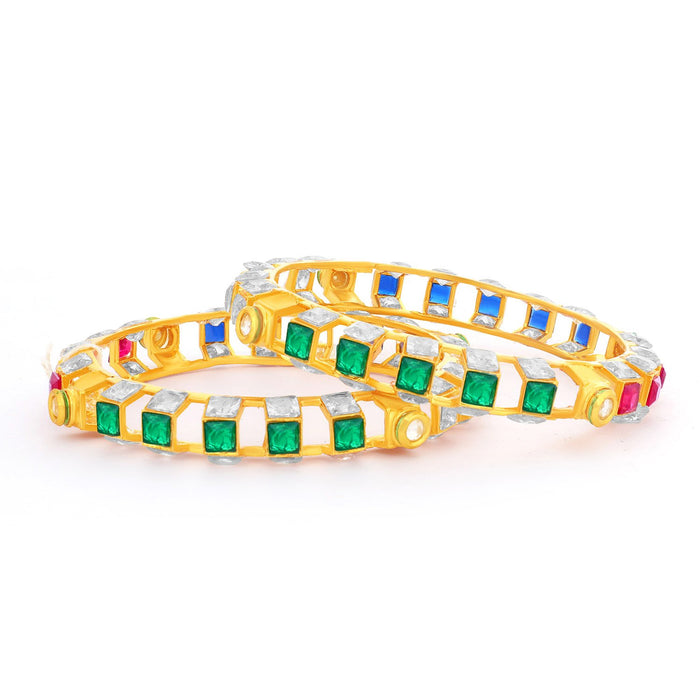 Sukkhi Fancy Square Gold Plated Bangles Set For Women - 2.4