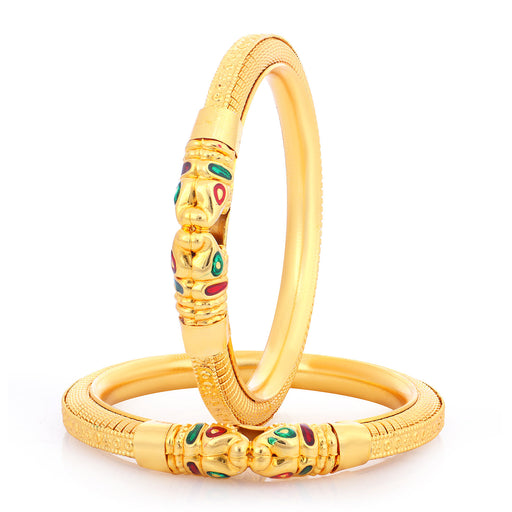 Sukkhi Glorious Gold Plated Bangles For Women (Set of 2)