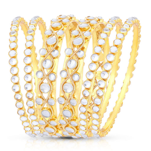 Sukkhi Ritzy Gold Plated Bangle Set for women