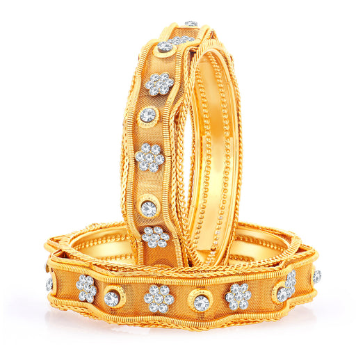 Sukkhi Exclusive Gold Plated Bangles For Women (Set of 2)