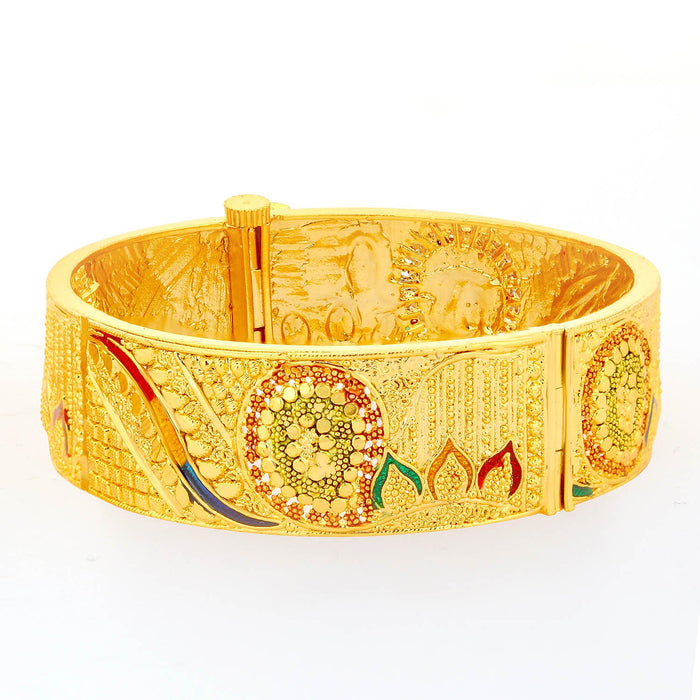 Sukkhi Traditional Gold Plated Meenakari Bangle For Women