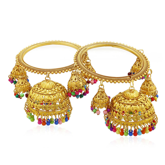 Sukkhi Adorable Gold Plated Jhumka Bangle Set For Women (Set of 2)