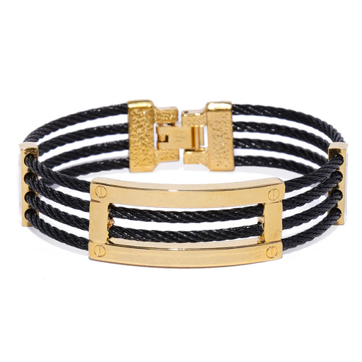 Sukkhi Attractive Gold Plated Leather Unisex Bracelet