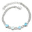 Sukkhi Aqua Blue Appealing Valentine Heart Crystal Stone Rhodium Plated Bracelet for Women