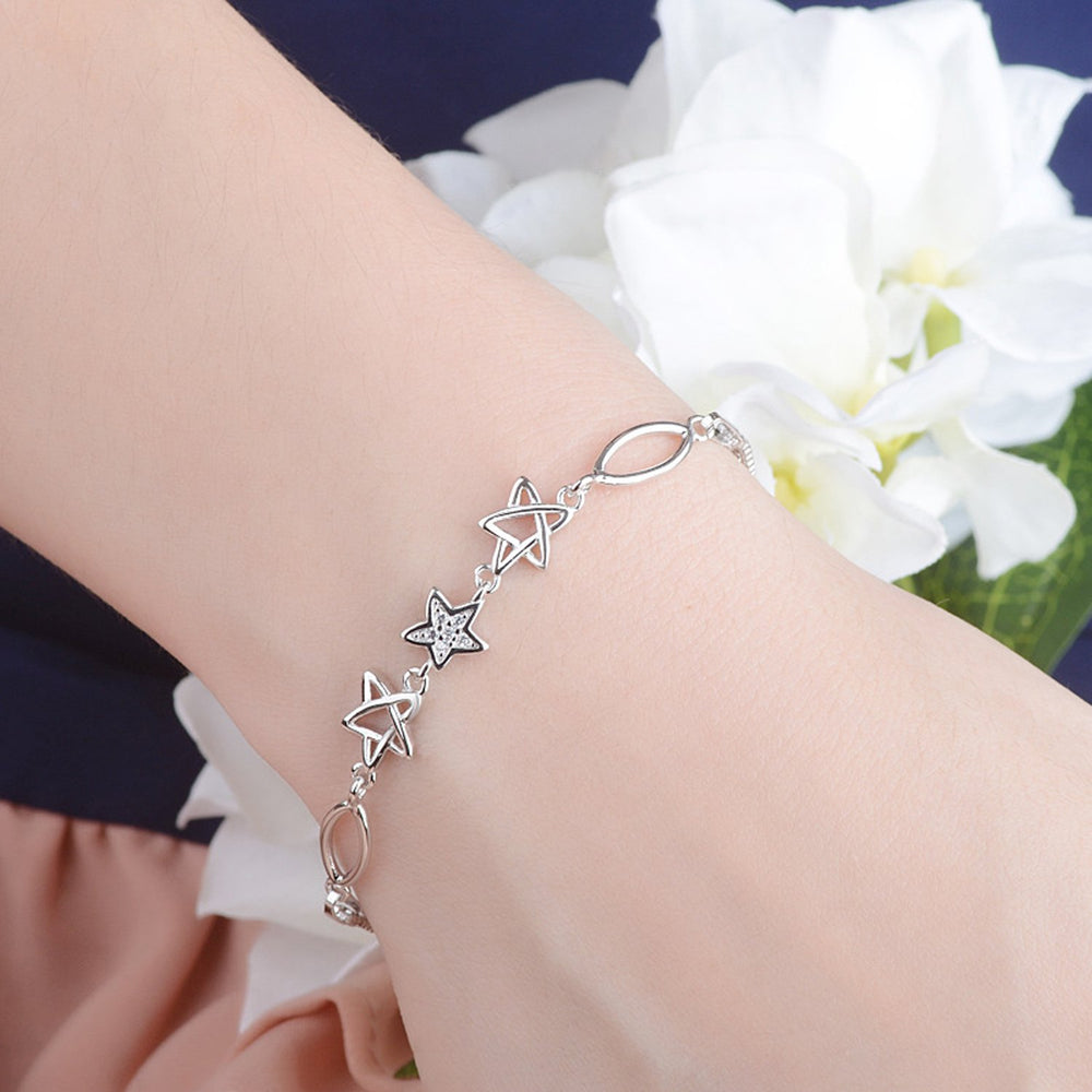Sukkhi Ritzy Adjustable Cubic Zirconia Rhodium Plated Bracelet for Women