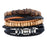 Sukkhi Designer Adjustable Leather Multi Colour Bracelet for Men