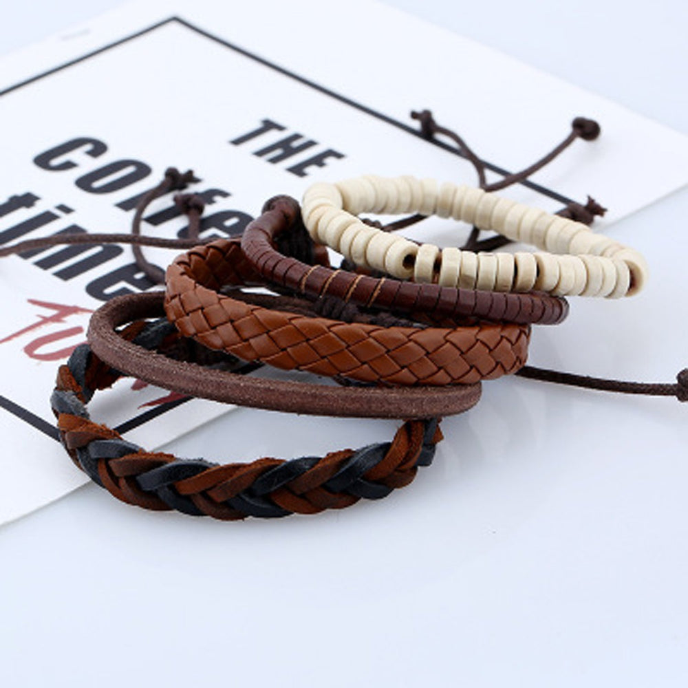 Sukkhi Trendy Adjustable Leather Bracelet for Men