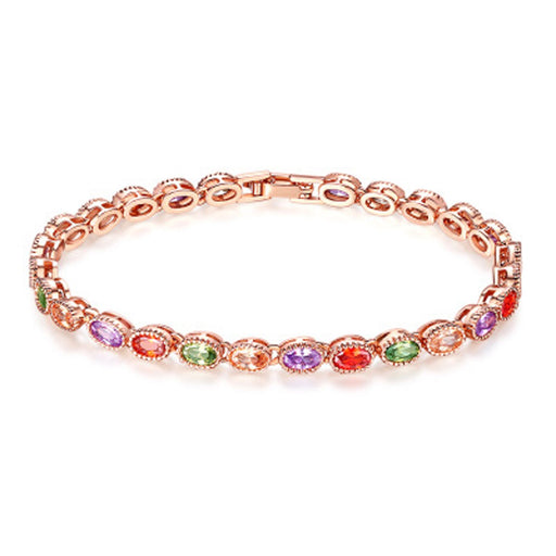 Sukkhi Exclusive  Adjustable Crystal Multi Colour Gold Plated Bracelet for Women