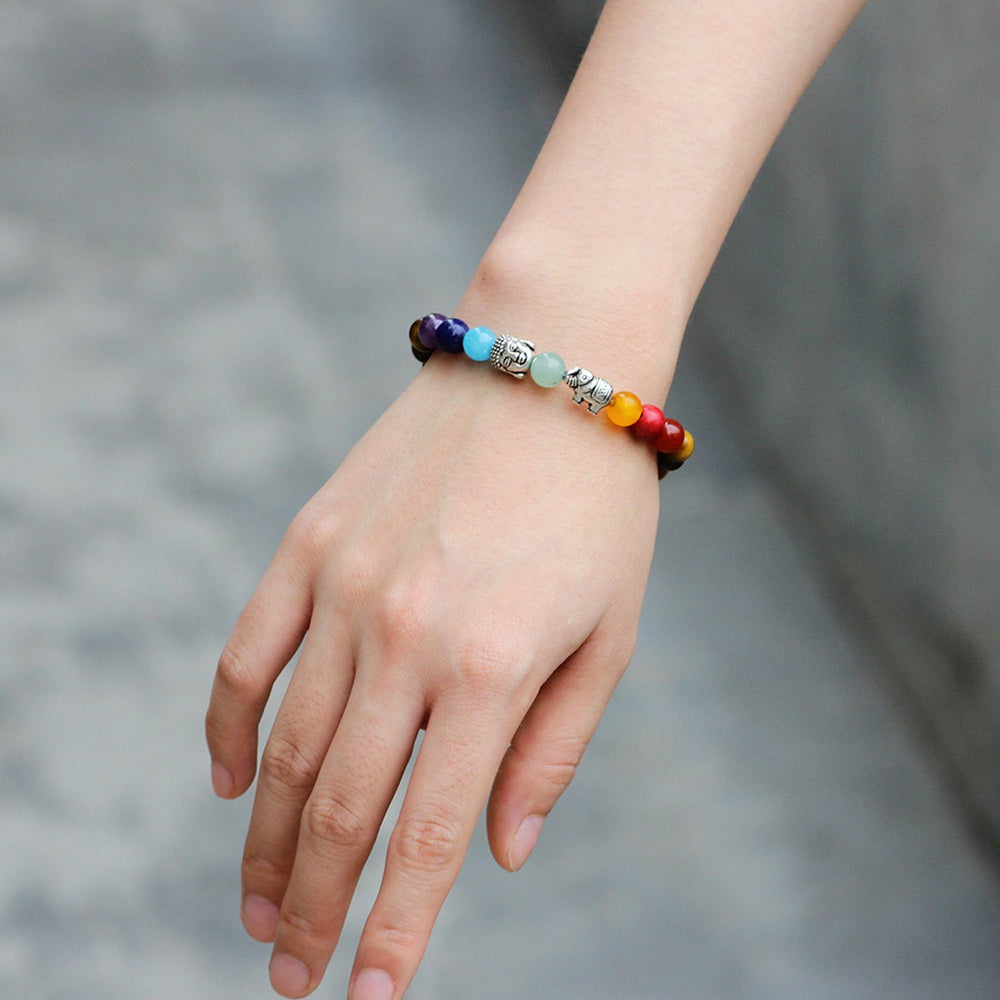 Sukkhi Lavish Elephant and Buddha Beads Multi Colour Bracelet for Women