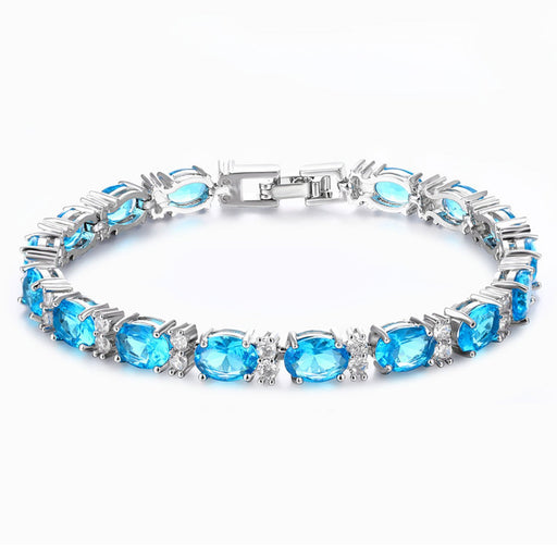Sukkhi Shimmering Crystal Rhodium Plated Bracelet for Women