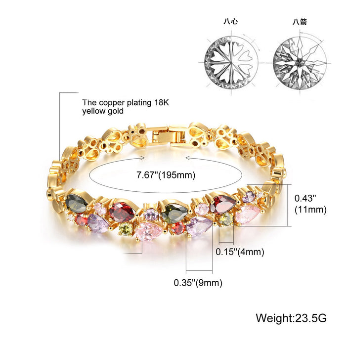 Sukkhi Gorgeous Crystal Gold Plated Bracelet for Women