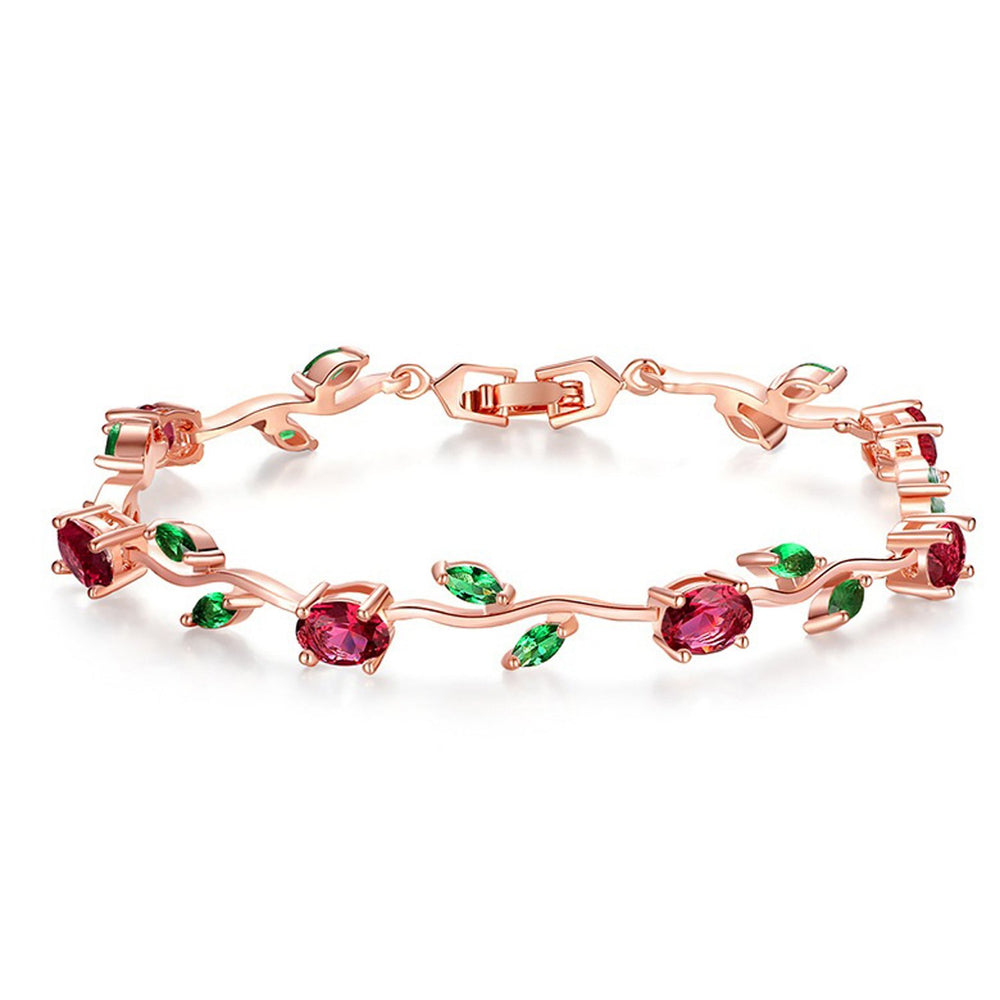 Sukkhi Designer Floral Crystal Gold Plated Bracelet for Women