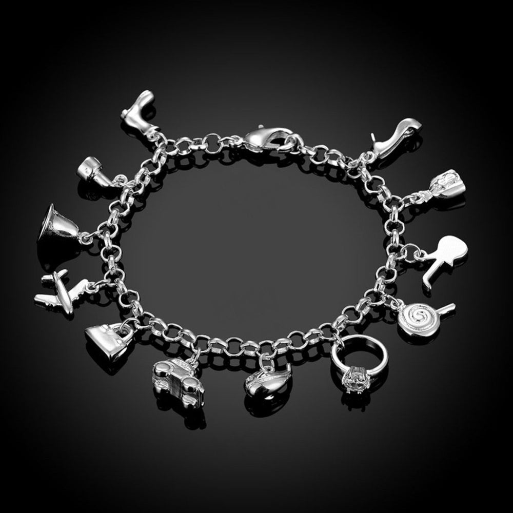 Sukkhi Trendy Crystal Rhodium Plated Bracelet for Women