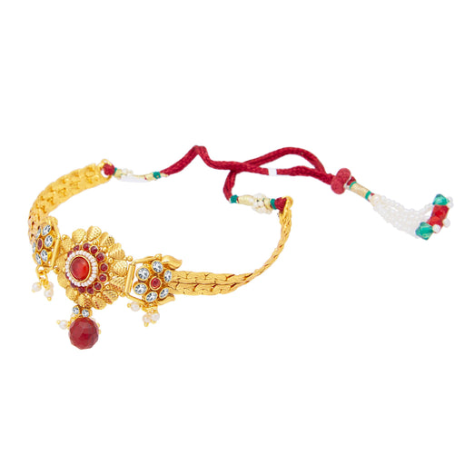 Sukkhi Blossomy Gold Plated Bajuband For Women