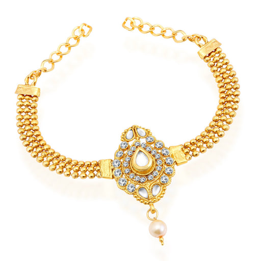 Sukkhi Graceful Gold Plated AD Bajuband For Women
