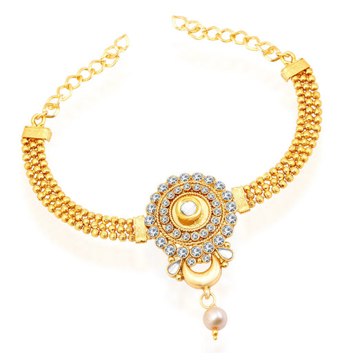 Sukkhi Pleasing Gold Plated AD Bajuband For Women