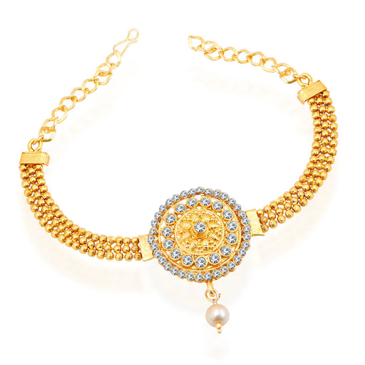 Sukkhi Delightful Gold Plated AD Bajuband For Women
