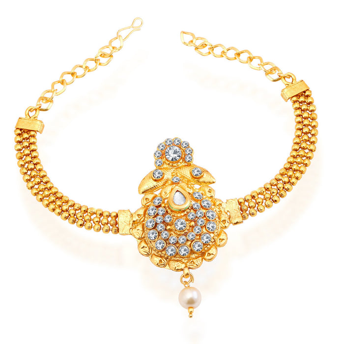 Sukkhi Artistically Gold Plated AD Bajuband For Women