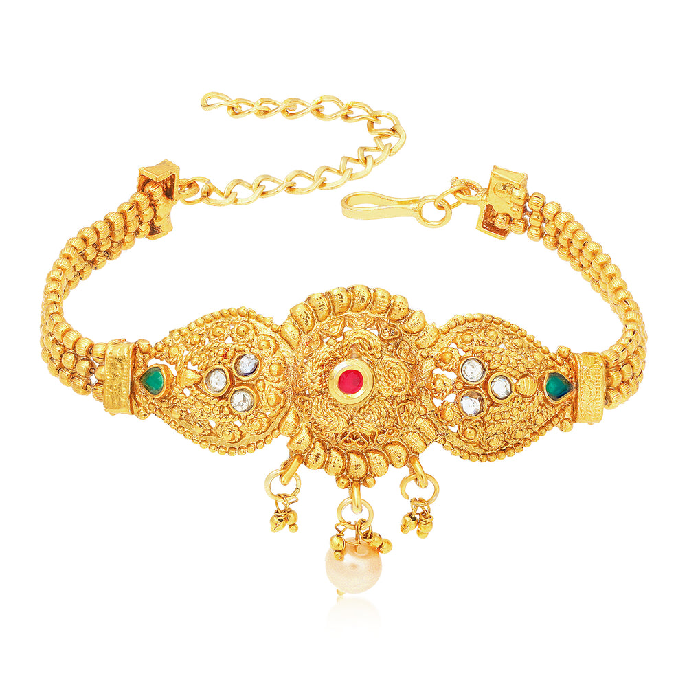 Sukkhi Incredible Kundan Gold Plated Bajuband for Women
