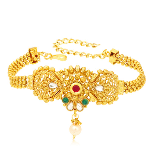 Sukkhi Spectacular 3 String Gold Plated Bajuband for Women