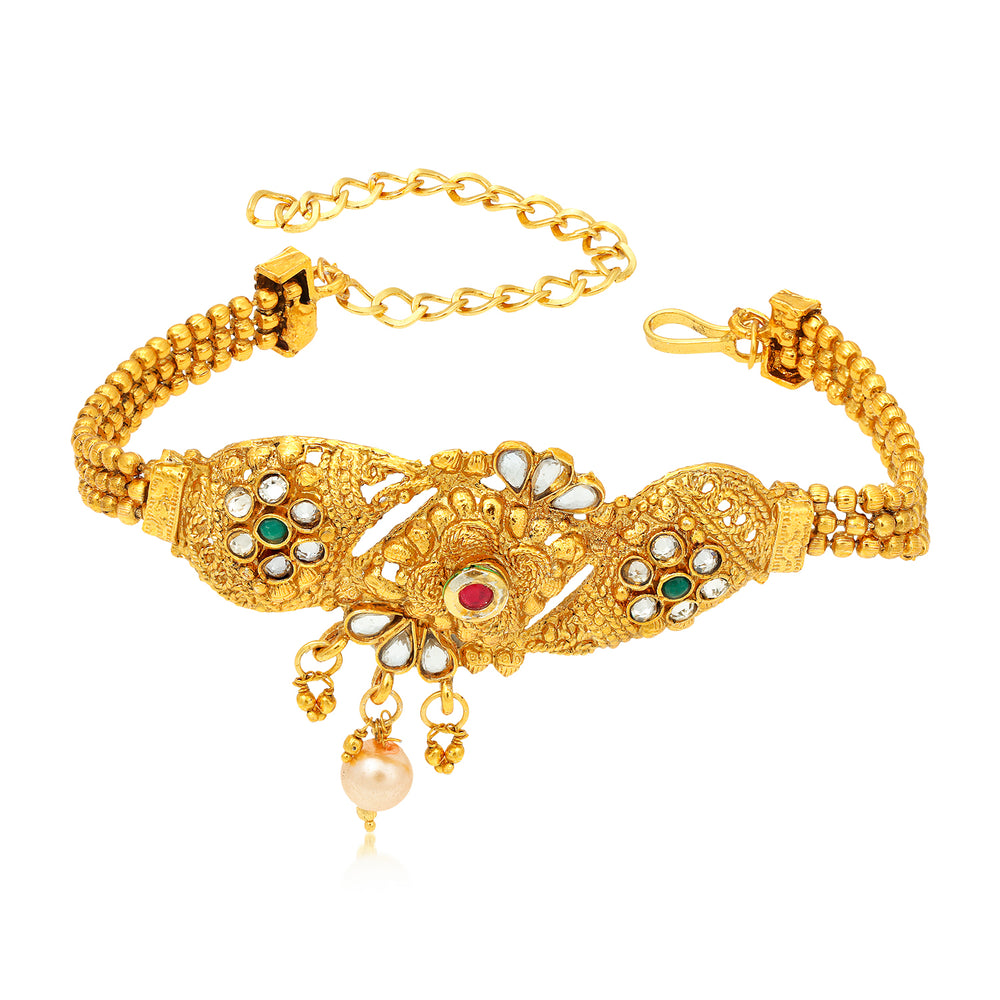 Sukkhi Beguiling Kundan Gold Plated Bajuband for Women