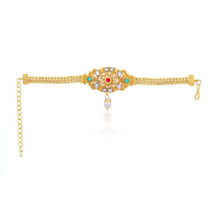 Sukkhi Fabulous 3 String Gold Plated Bajuband for Women