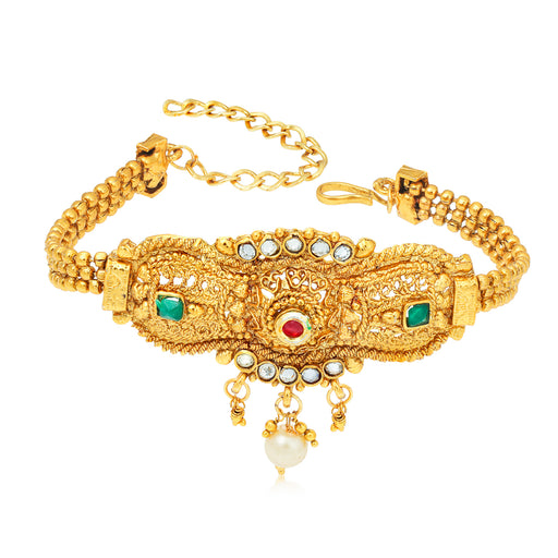 Sukkhi Tibale Kundan Gold Plated Bajuband for Women