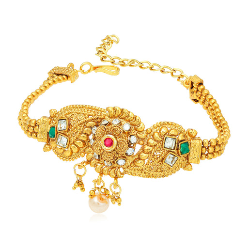 Sukkhi Splendid Jalebi Gold Plated Bajuband for Women