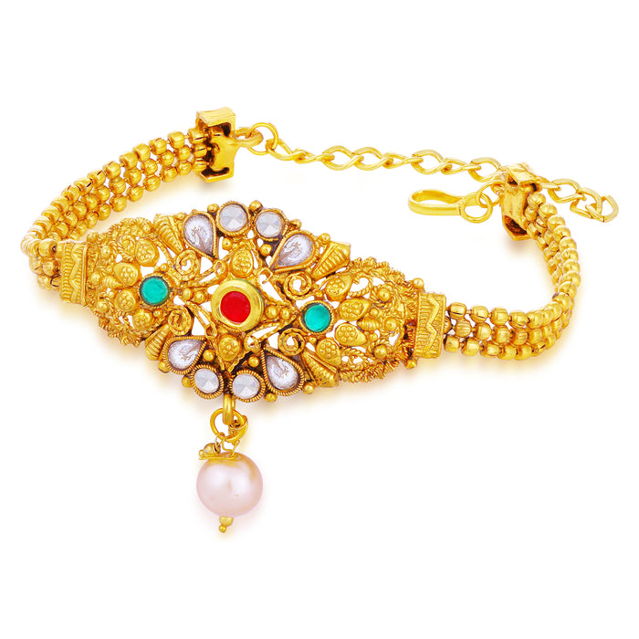 Sukkhi Spectacular Gold Plated Kundan Bajuband For Women