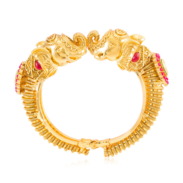 Sukkhi Elephant Inspired Gold Plated Bangle Kada for Women