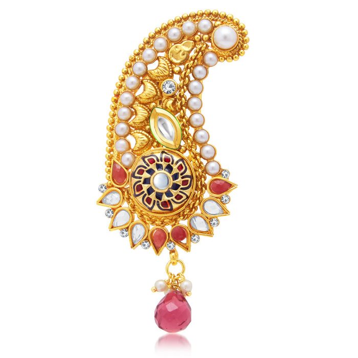 Sukkhi Youthful Gold Plated Kilangi Brooch For Men