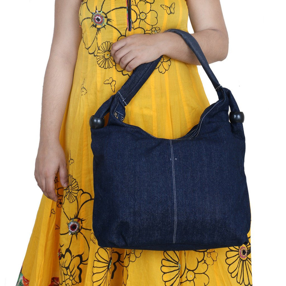 Sukkhi Unique Blue Shoulder Handbag-3
