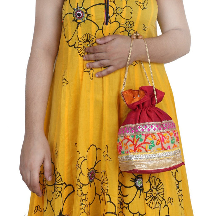Sukkhi Multicoloured Designer Potli Bag-3