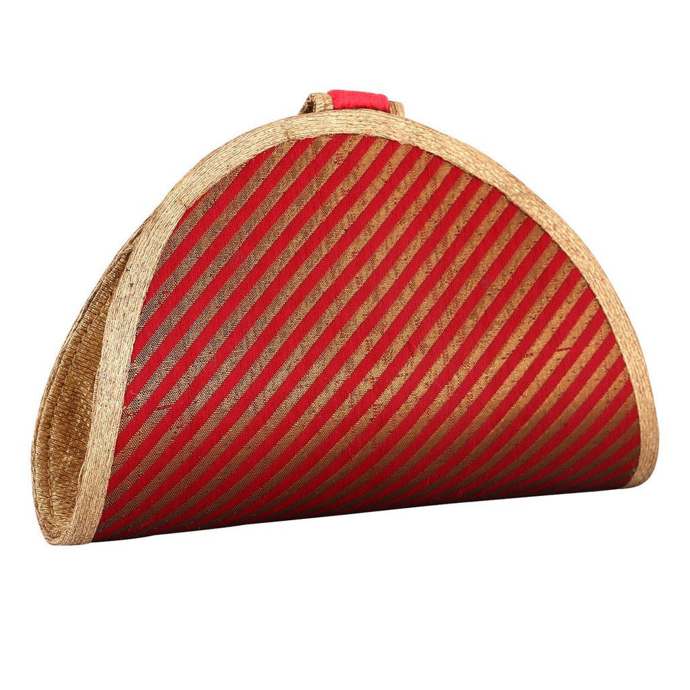 Sukkhi Red and Gold Unique Clutch Handbag-1