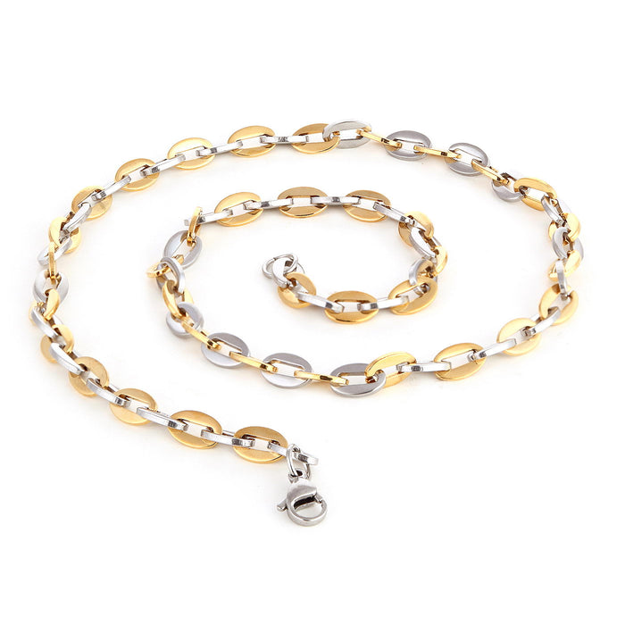 Sukkhi Elegant Two Tone Gold Plated Sneak Design Unisex Chain