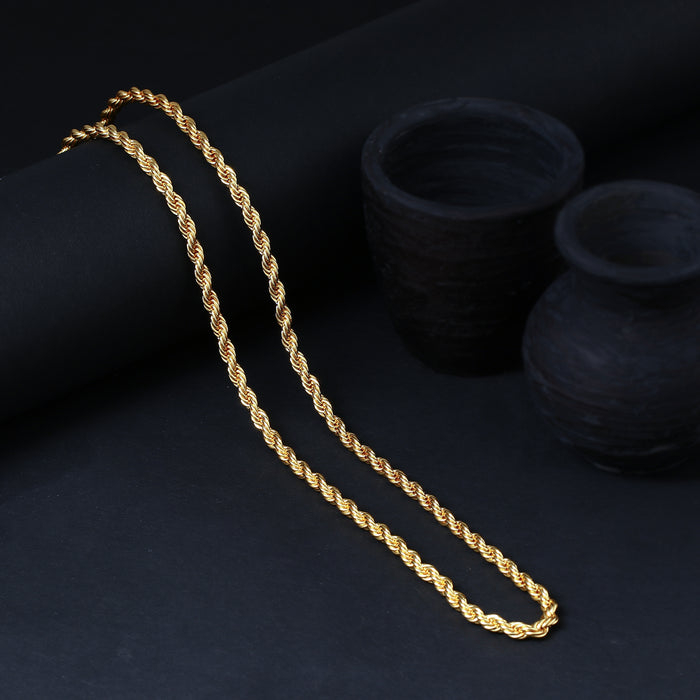 Sukkhi Traditional Gold Plated Unisex Rope Chain