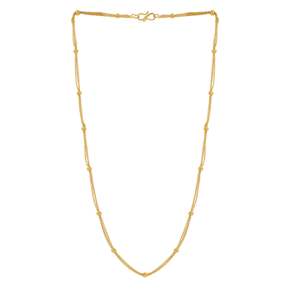 Sukkhi Spectacular Gold Plated Unisex Curb chain
