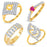 Pissara Artistically Gold & Rhodium Plated CZ Alloy Combo For Women Pack Of 4