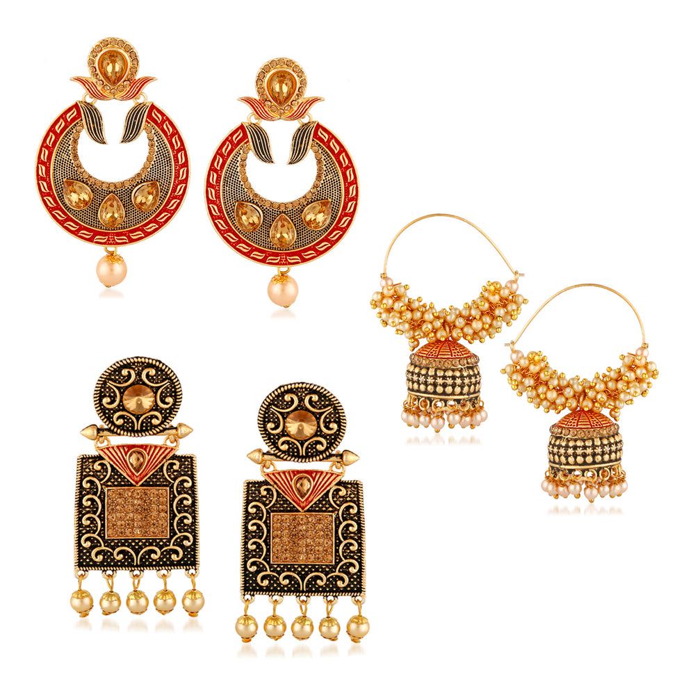 Trushi Brilliant Gold Plated Earring For Women